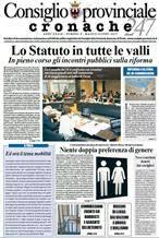 Le Pollicine sul giornale del Consiglio Provinciale